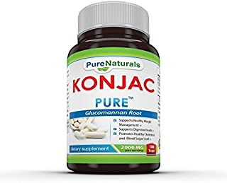 Pure Naturals Konjac Root, 2000 Mg, Veg Capsules - High Quality, Fiber-rich Konjac Glucomannan Extract - Supports Appetite Control and Healthy Weight Management and Supports Digestive Health (360 Vcaps)