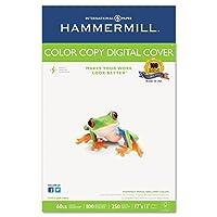 Hammermillカラーコピーカバー用紙–元帳/タブロイド–11quot ; X 17quot ;–60LB–Ultra Smooth–100明るさ–250/ Ream–フォトホワイトby Hammermill