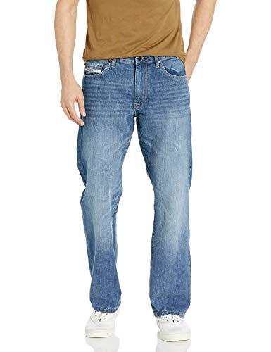 Ecko UNLTD Men's Relaxed Straight Jean, Vintage Wash, 36