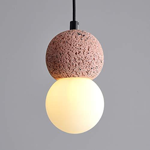 XJJZS Lámpara de Restaurante nórdica lámpara de Mesa de Barra Creativa de un Solo Cabezal de Cemento con Pantalla de acrílico