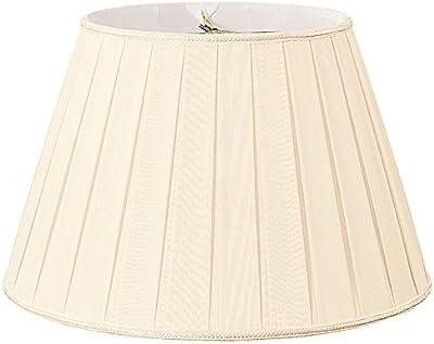 Royal Designs Deep Empire Side Pleat Basic Lamp Shade Eggshell 6 X 12 X 9 25 Amazon Com