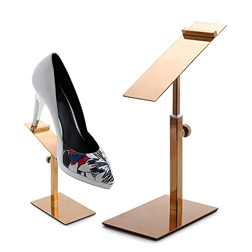 Floratek 2 Piezas/1 par de zapateros con Soporte Ajustable para Zapatos, Organizador para Tienda minorista con Alfombrilla Antideslizante