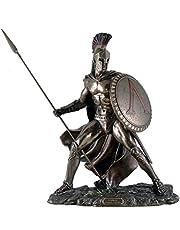 Unbekannt Leonidas met schild en speer figuur veldherr Spartaner brons