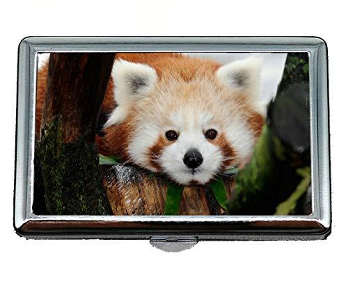 Astuccio portasigarette, doppia porta biglietti da visita Zoo Panda Porta biglietti da visita (acciaio inossidabile)