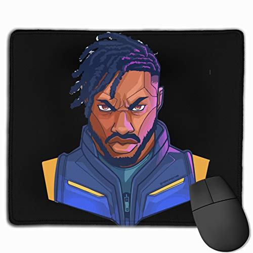 Mi-Cha-El B JOR-Dan Gaming Mouse Pad Computer Keyboard Mouse Mat Thicken Non-Slip Mousepad Rubber Base and Stitched Edges for Game Players Office