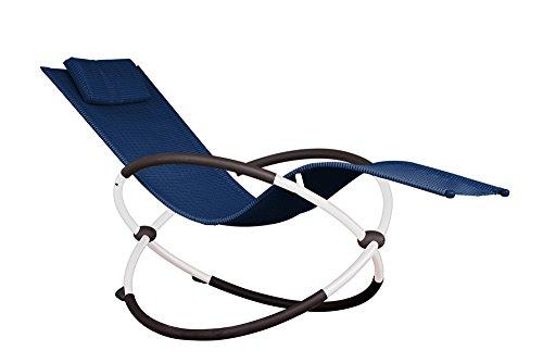 Vivere ORBL1-NW Orbital Chaise Longue Aluminium Navy 152 x 76 x 91 cm