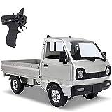 H.Slay 1/10 Model Van, 2.4Ghz Remote Control Car, WPL D12 RC Car, 4WD Off Road Climbing Truck, Simulación Drift Stunt Racing Buggy con luz LED, Coche de juguete eléctrico de alta potencia para adultos
