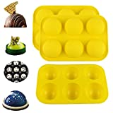 Mural Wall Art 6 Holes Silicone Mold for Chocolate, Cake, Jelly, Pudding, Dessert,Handmade Soap,...