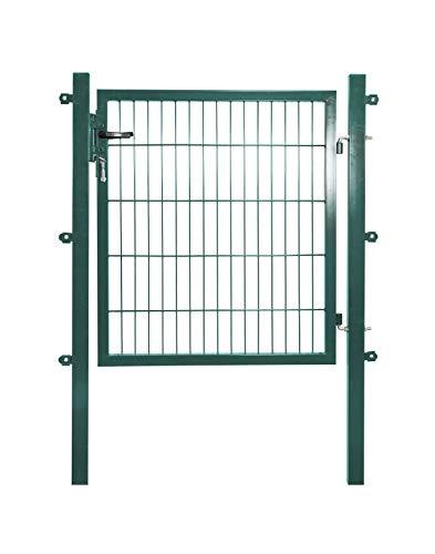 Gartentor/Gartentür BxH 100x150 cm, grün oder anthrazit, inkl. Pfosten, passend für Stabmattenzaun Doppelstabmattenzaun (Grün - RAL 6005)