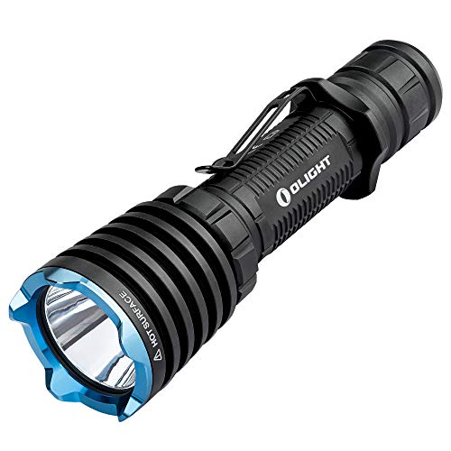 Olight Warrior X Tactical Torch Powerful 2000 Lumens Magnetic USB Rechargeable Tactical Flashlight Throw 560 Meters,2 Meter Drops,Strobe Vibrating Power Indicator 18650 Battery Included for Hunting