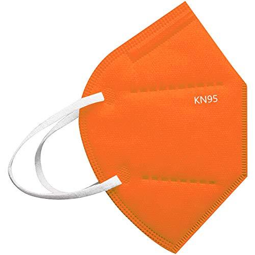 100 Stück Erwachsene_5 Lagige Schutz_𝙁𝙁𝙋𝟮_Msake_𝙆𝙉𝟵𝟱 & ⒸⒺ-Zertifizierung | Schnelle Lieferung (20 Stück, Orange)