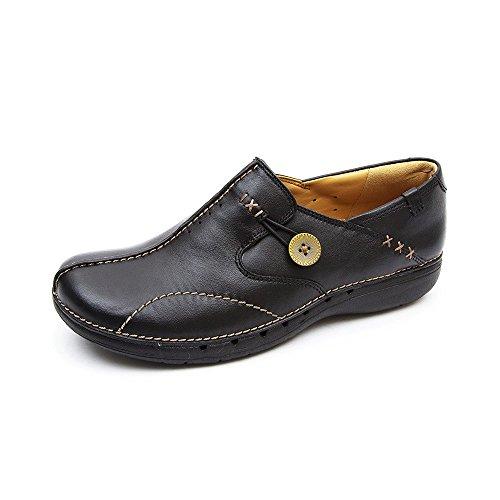 Clarks Damen Un Loop Slipper, Schwarz (Black Leather), 43 EU