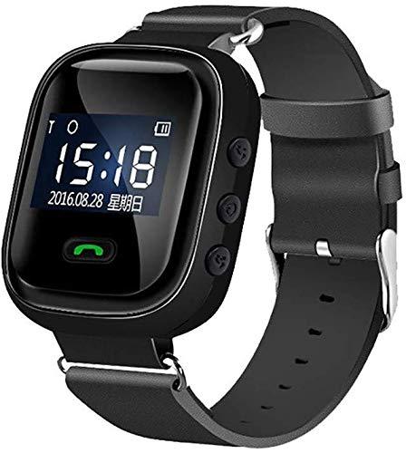 CHENGL GPS Notfall Uhr als,Intelligente Uhr Für Ältere Menschen Anti Verlorene GPS-Ortung, SOS Notruf Telefonfunktion Notruf Senioren