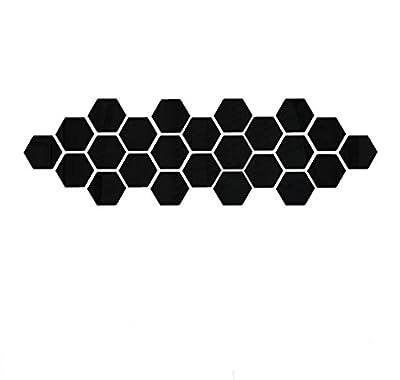 IEason Wall Stickers 12Pcs 3D Mirror Hexagon Vinyl Removable Wall Sticker Decal Home Decor Art DIY (Black)