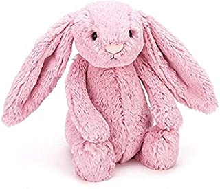 38 inches x 28 inches Jellycat Bashful Pink Bunny Plush Baby Blanket