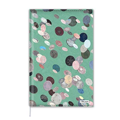 JELLYBEAN Notizbuch Cover A5 / Nachfühlbar/Umschlag aus Tyvek® / 160 Blankoseiten Creme Munken Papier