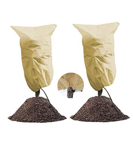 LINSOCLE 2 Pack Hivernage Plante, Housse Hivernage Plante,100 * 80cm Protection Plantes, Housse d'Hivernage, Housse de Protection pour Plantes Housse dhivernage Réutilisable