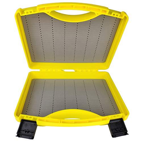 Riverruns Streamer Fly Box SF-I Click Lock Large Fly Box 9.5X7X2.5 inch/ 242X180X64mm Fly Fishing (Yellow)