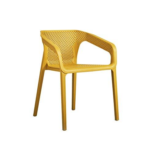 skön Casual Chat Chair Hem Armstöd Stol Datorstol Plast Tjock Ryggstöd Barnstol Stark (Color : C)