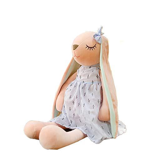 Morbuy Peluche Relleno, Conejo de Orejas largas Juguete de Peluche Suave Lindo Animals 45cm/55cm Mejores Regalos para Niños (55 cm/21.7 Inch, Gris)