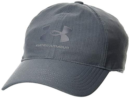 Under Armour Men's Armourvent Adjustable Hat , Pitch Gray (012)/Black , One Size Fits Most