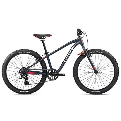 ORBEA Vélo pour enfant MX 24 Dirt VTT Hardtail 7 vitesses 30 cm (24') Bleu indigo – Rouge