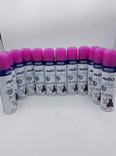 Aveo Deospray Anti Transpirant Pink 24h Wirkung Black and White 12er Pack 12x75 ml