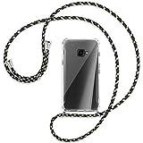 mtb more energy® Handykette kompatibel mit Samsung Galaxy Xcover 4, 4S (SM-G390, G398 / 5.0'') - Camouflage - Smartphone Hülle zum Umhängen - Anti Shock Full TPU Hülle