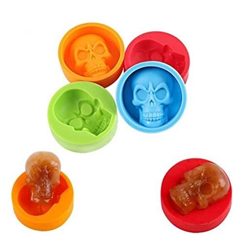 YSCSTORE HumoliStore 3D Realista Skull Silicone Muffin Taza Taza Molde para Hornear, Tamaño: 5 * 6 * 2.1cm, Resina de Cristal Resina epoxi Resina Abrasiva DIY Cubo de Hielo Molde Práctico y Duradero