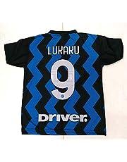 Maglia Calcio Inter Lukaku 9 Maglietta Replica Ufficiale Autorizzata 2020-2021 Bambino Ragazzo Uomo