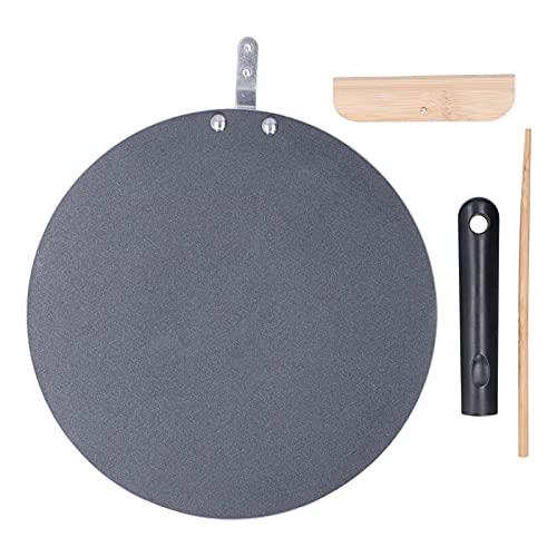 Antiaderente Piatto Multifunzione Frittelle Omelette Crepes Padella Indiana Adatto per Fornelli a Gas e Fornelli a Induzione (30 cm)