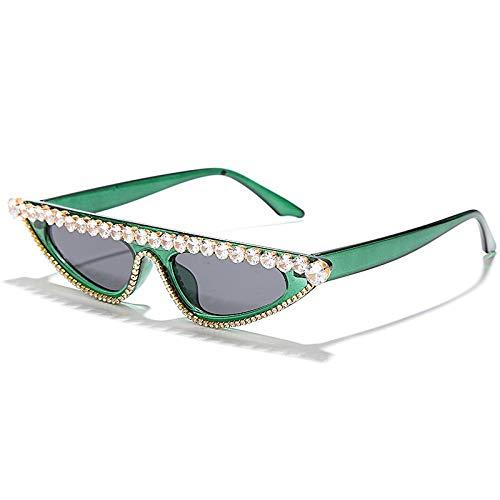 OcchialidaSoledaUomo Occhiali da Sole con Diamante Cat Eye da Donna Occhiali da Sole con Strass Moda Occhiali da Vista Vintage Sexy tonalità Uv400 3