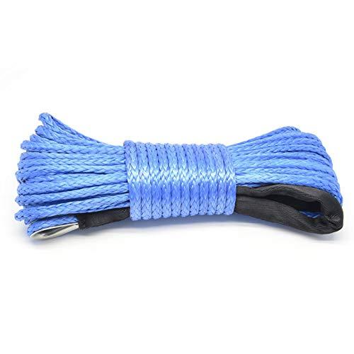 Cuerda sintética para cabrestante, 1/4'(6 mm) Cable de cabrestante Duradero Cuerda de...