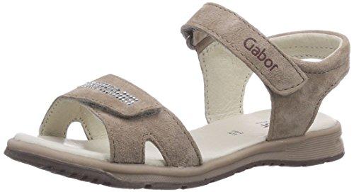Gabor Kids Mädchen Bunny Offene Sandalen mit Keilabsatz, Grau (Light Taupe/01), 30