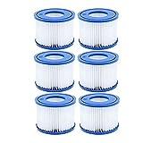 DHTENG Filtro de la Piscina Hot 6pcs, para Bestway SPA Filter Pump Type Vi, Filtros de bañera de hidromasaje para Lay-Z-SPA, para filtros de Coleman Salpá (Color : Blue)