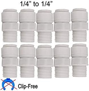 10pcs No Buckle Quick Connect to Threaded Fittings1/4
