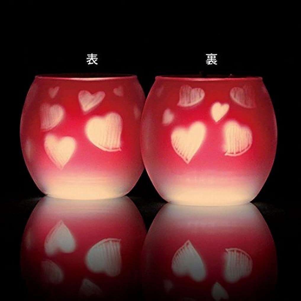 均等に水陸両用目に見えるカメヤマキャンドル(kameyama candle) ファインシルエットグラス【日本製キャンドル4個付き】「スイートハート」