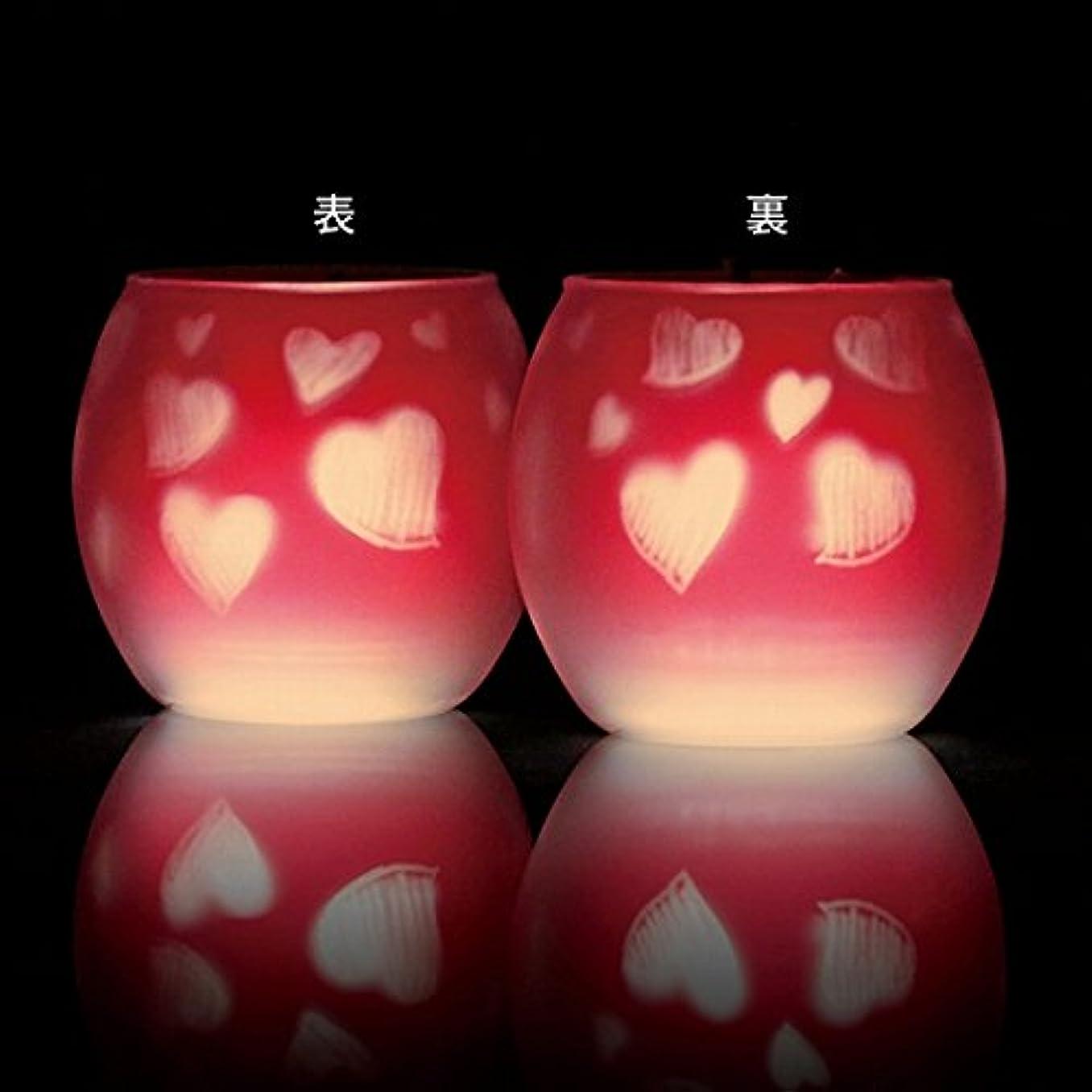 変なナラーバーフクロウカメヤマキャンドル(kameyama candle) ファインシルエットグラス【日本製キャンドル4個付き】「スイートハート」