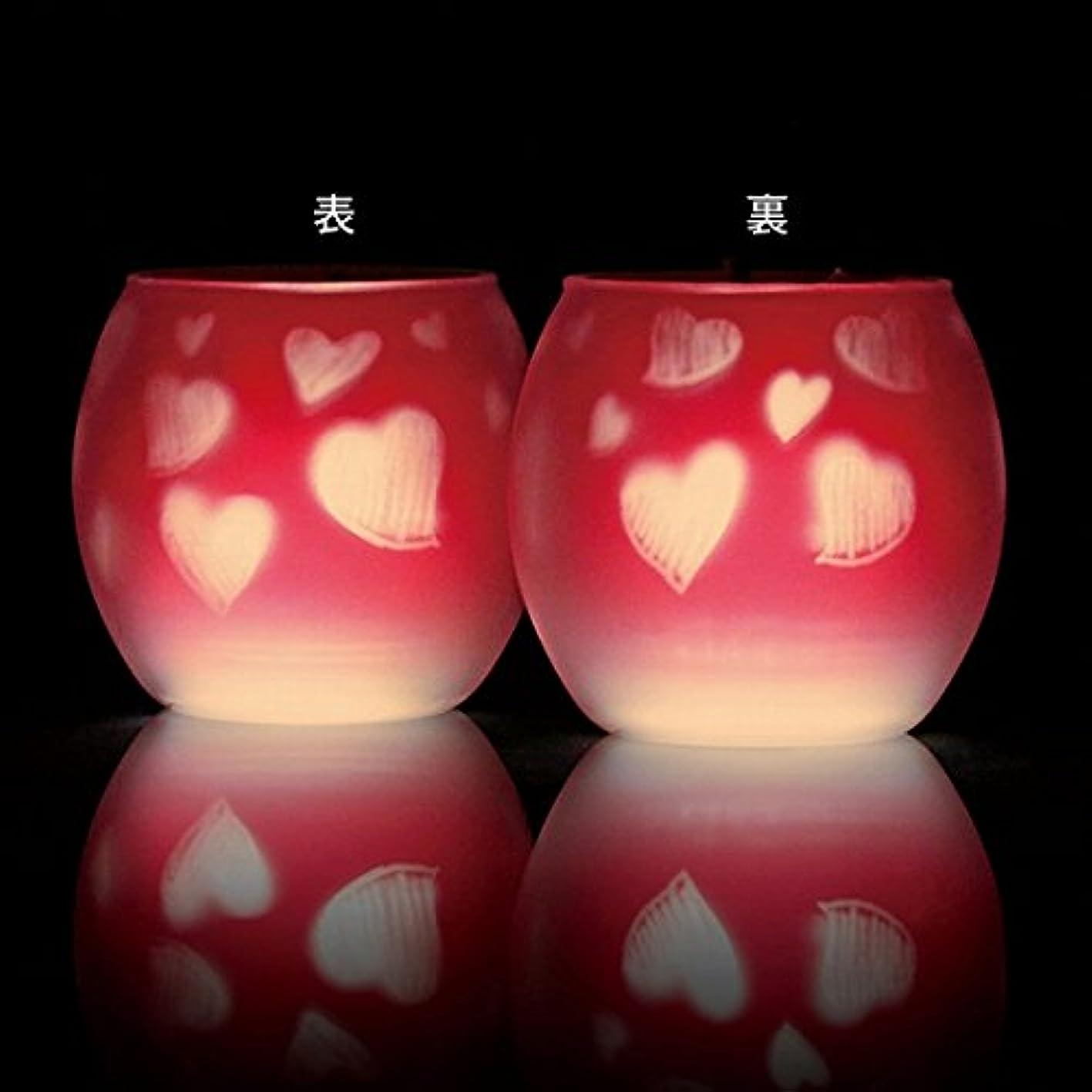 巨大な巨大な適合しましたカメヤマキャンドル(kameyama candle) ファインシルエットグラス【日本製キャンドル4個付き】「スイートハート」