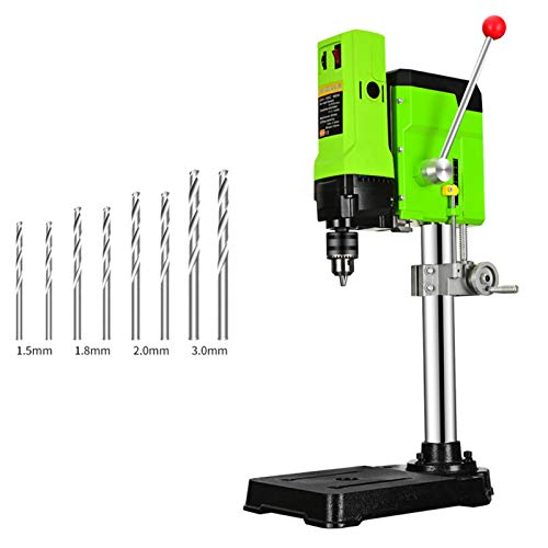 XIONGGG Multifunction Drill Press Bench, 880W Workbench Drilling Machine Beads Tool, for Wood, Aluminum, Composite Panels Drilling