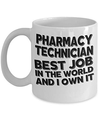 N\A aza de técnico de Farmacia - Taza de café del Mejor Trabajo - Regalo de cumpleaños de Aniversario de Novedad inspiradora para compañero de Trabajo, Jefe, Campo médico, Amigo, pariente mío