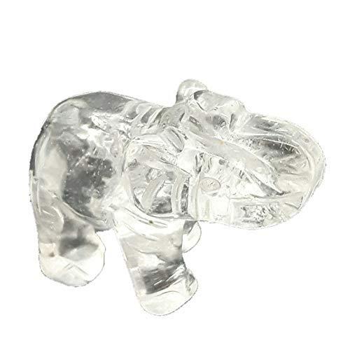 Bergkristall Elefant ca. 5 cm | Edelstein Tier aus Natur-Stein | Glückssymbol Elefanten-Figur/Statute | Heilstein, Glücksbringer, Geschenk, Talisman, Feng-Shui und Deko