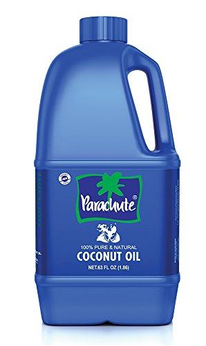 Parachute Coconut Oil 63 fl.oz. (1863ml) - 100% Pure, Unrefined, Expeller Pressed