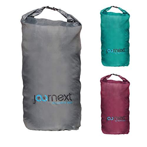 Journext 2 in 1 Rucksack Schutzhülle & Regenschutz, Schutzsack für Backpack, Schutz für Flugzeug, Bahn & Bus, Flight Bag (stonegrey, L)