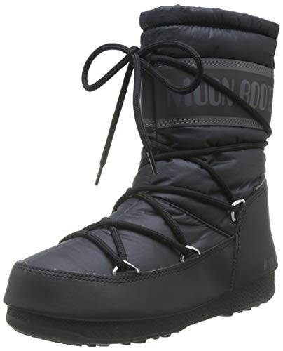 Moon Boot Damen Mid Nylon Wp Schneestiefel, Schwarz (Nero 001), 38 EU