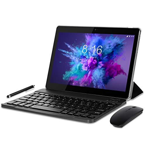 Tablet 10 Pollici 4G LTE WiFi BEISTA-Android 9.0,4GB RAM 64GB ROM,Processore quad-core,GPS,OTG,Corpo in metallo,Grigio