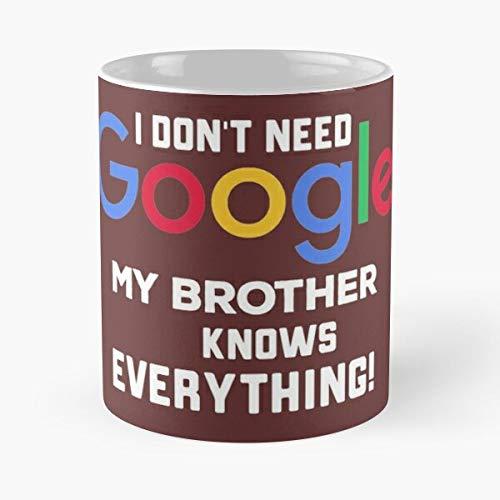 Berealandco Funny Google Bros Sibling Googler Brothers Bro Brother Smart Taza de café con Leche 11 oz