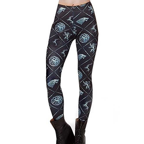 Yoga Pants for Women Printed High Waisted Leggings Running Tights for Workout Fitness Jogger