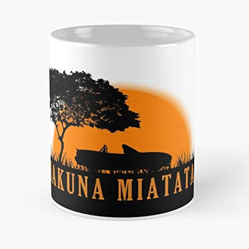 5TheWay Mazda Book Jungle Miata Trees Mx5 Mk1 Sun Best 11 oz Kaffeebecher - Nespresso Tassen Kaffee Motive