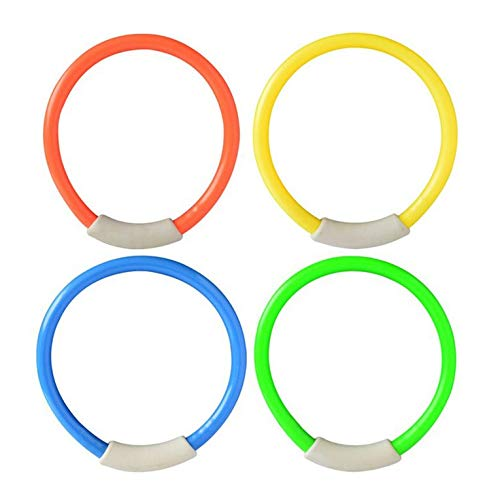 #N/V Juego de 4 anillos de buceo para piscina, accesorios de natación para niños, juego de agua, buceo, deportes, verano, playa, juguete
